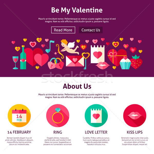 Web Design Be My Valentine Stock photo © Anna_leni