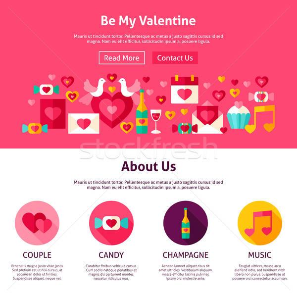 Stock fotó: Website · design · enyém · Valentin · nap · stílus · háló · szalag