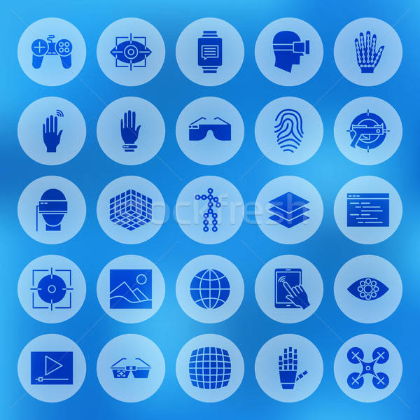 Augmented Reality Solid Circle Icons Stock photo © Anna_leni