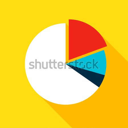 Stock photo: Chart Pie Flat Icon