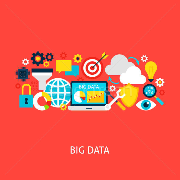 Big Data Vector Flat Concept Stock photo © Anna_leni