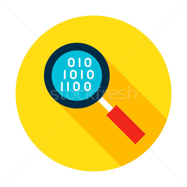 Data Search Flat Circle Icon Stock photo © Anna_leni