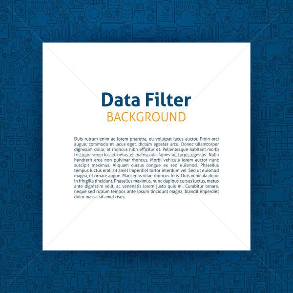 Veri filtre kâğıt şablon dizayn Stok fotoğraf © Anna_leni
