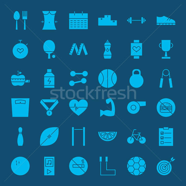 Healthy Lifestyle Solid Web Icons Stock photo © Anna_leni