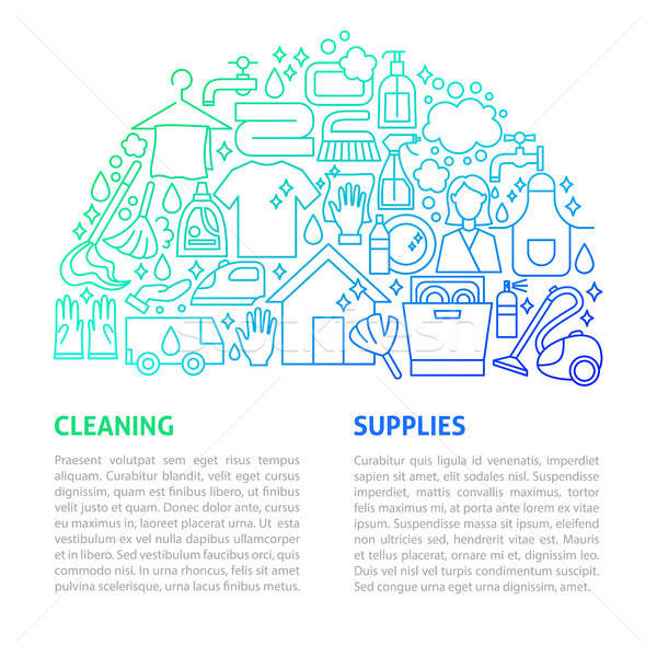 Cleaning Services Line Template Stock photo © Anna_leni