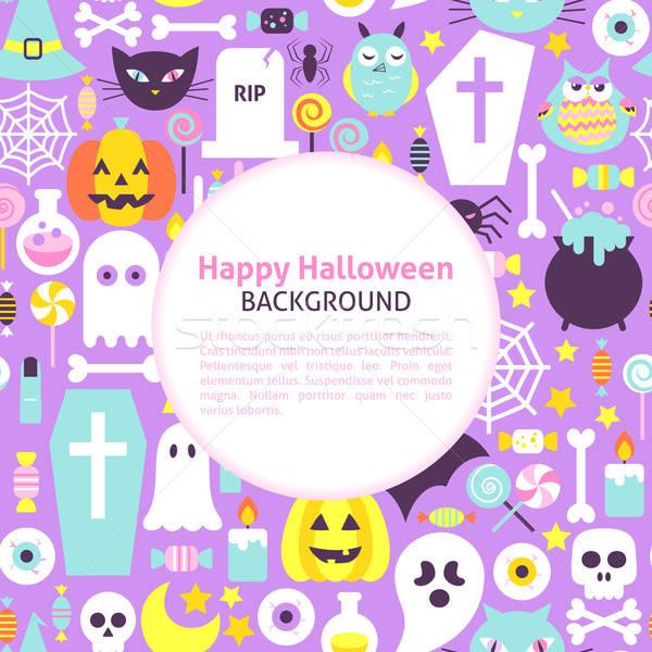 Szczęśliwy halloween modny stylu scary wakacje Zdjęcia stock © Anna_leni