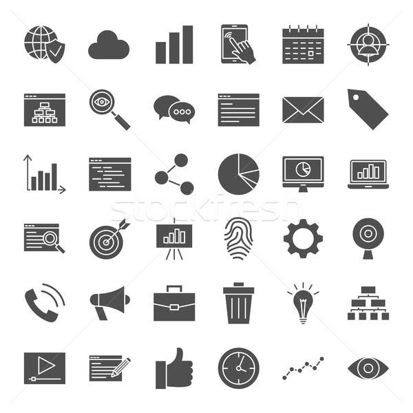 Development Solid Web Icons Stock photo © Anna_leni