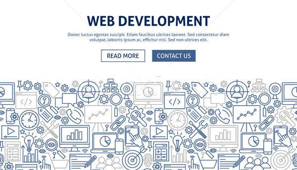 Web gelişme afiş dizayn hat web sitesi Stok fotoğraf © Anna_leni