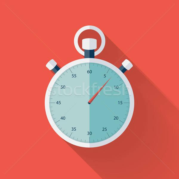 Cronógrafo icono rojo negocios reloj tiempo Foto stock © Anna_leni