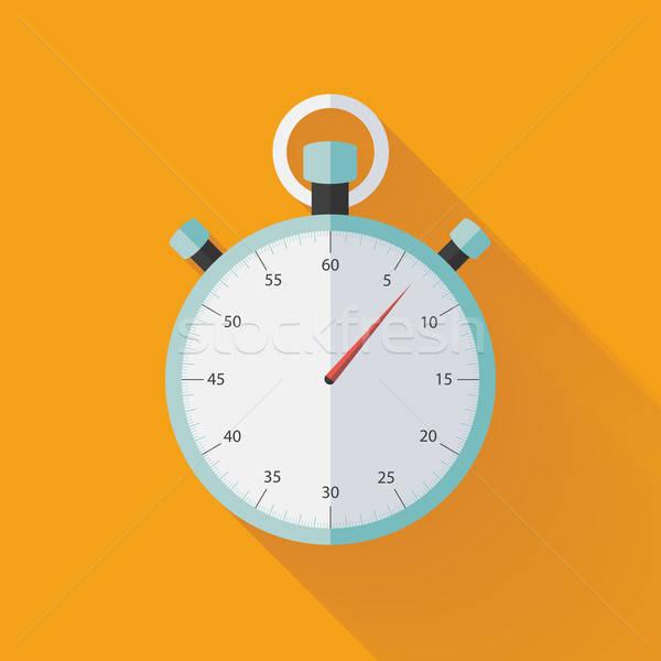 Menta cronógrafo icono naranja negocios reloj Foto stock © Anna_leni