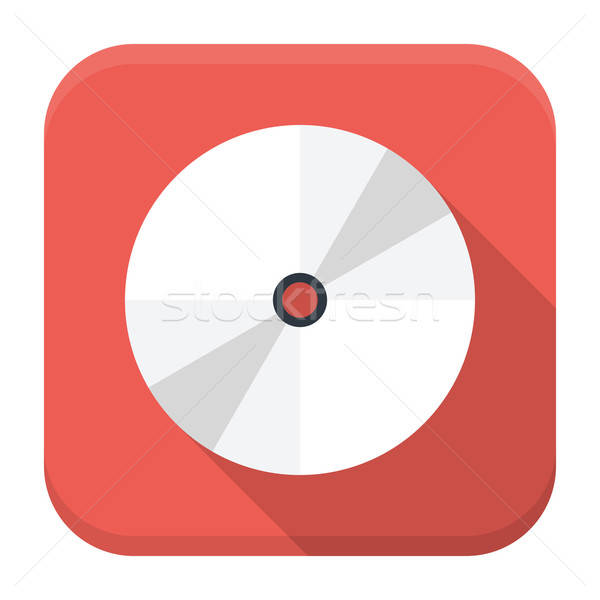 CD disc flat app icon with long shadow Stock photo © Anna_leni