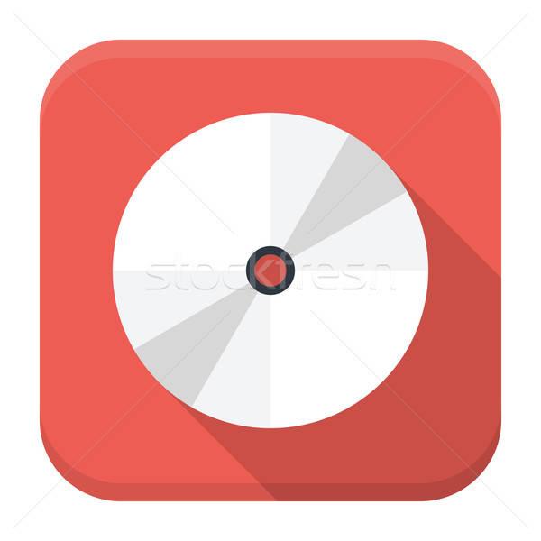 Płyta cd dysku app ikona długo cień Zdjęcia stock © Anna_leni