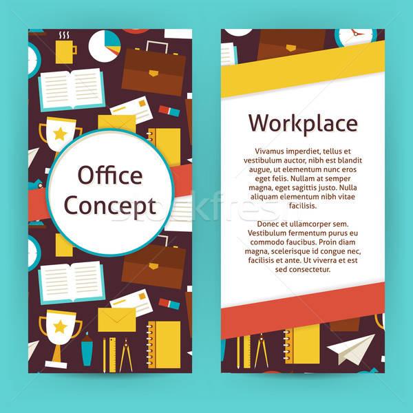 Foto d'archivio: Vettore · flyer · modello · design · ufficio · lavoro