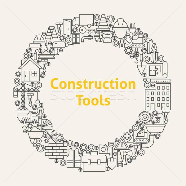 Zdjęcia stock: Budowy · narzędzia · line · sztuki · kółko