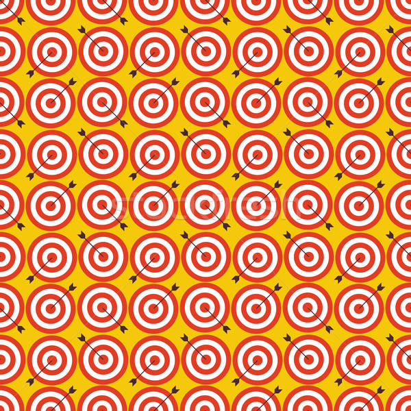 Flat Seamless Sport and Recreation Target with Arrow Pattern Stock photo © Anna_leni