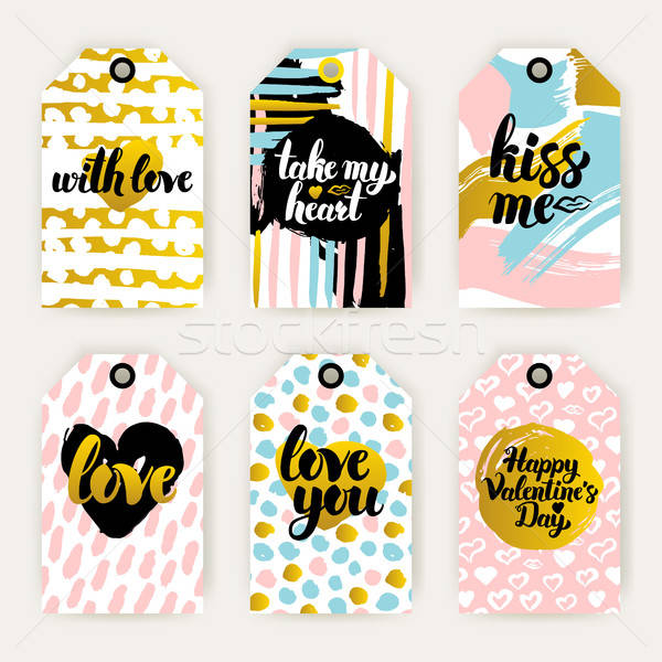 Trendy Valentines Day Gift Labels Stock photo © Anna_leni