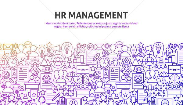 HR Management Concept Stock photo © Anna_leni