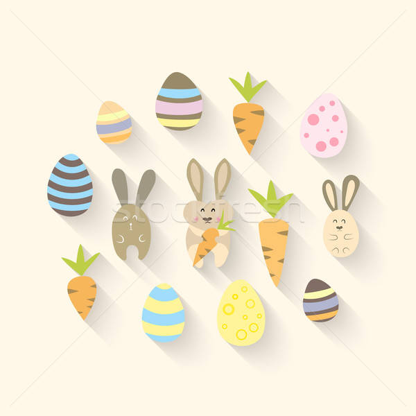 Oriental zanahorias huevos ilustración diseno Foto stock © Anna_leni