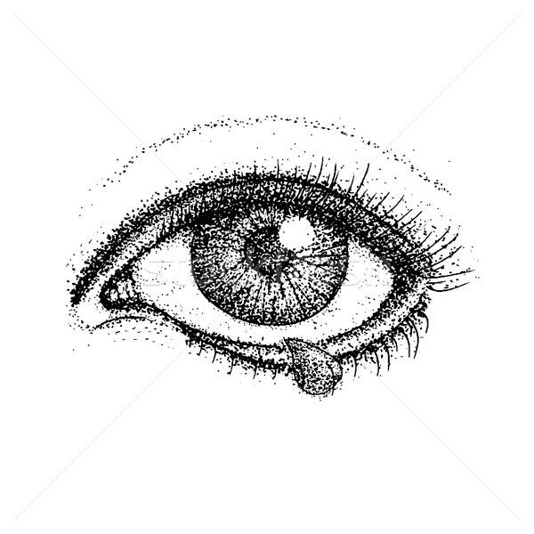 Dotwork Crying Eye Stock photo © Anna_leni