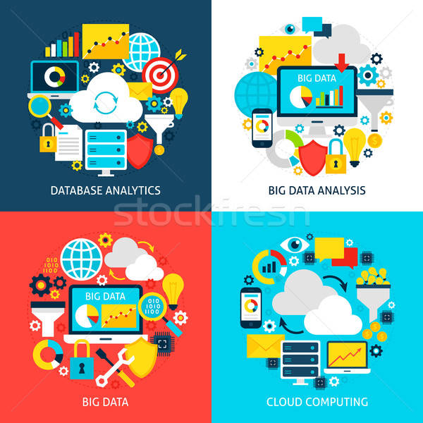 Big Data Flat Concepts Stock photo © Anna_leni