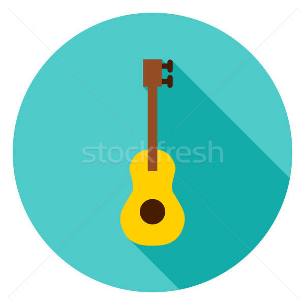 гитаре круга икона дизайна долго тень Сток-фото © Anna_leni