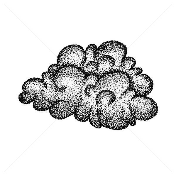 Dotwork Cloud Weather Stock photo © Anna_leni
