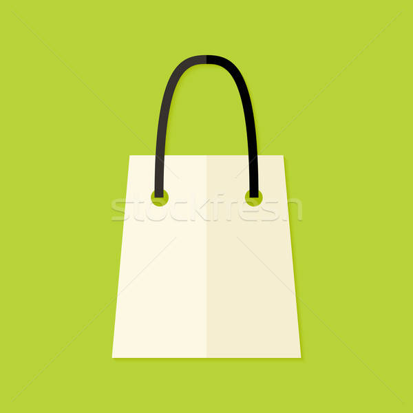 Shopping Pack Flat Icon Stock photo © Anna_leni