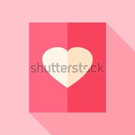 Amore carta cuore stilizzato oggetto lungo Foto d'archivio © Anna_leni