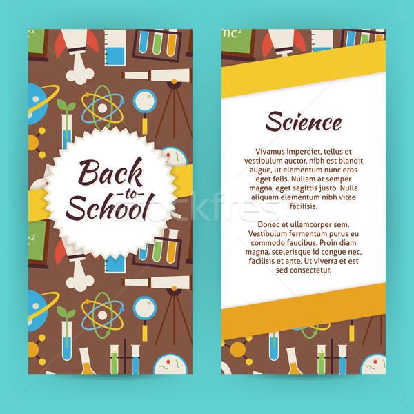 Vektor szórólap sablon terv iskola tudás Stock fotó © Anna_leni