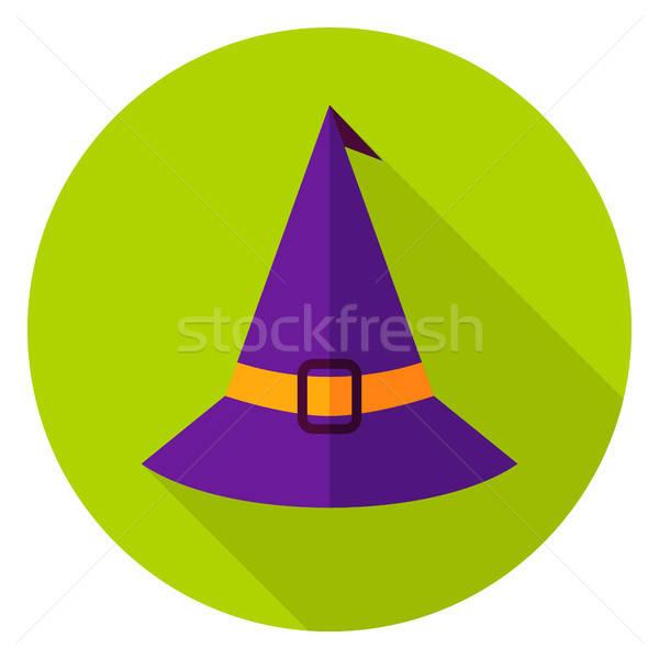 Witch Hat Circle Icon Stock photo © Anna_leni