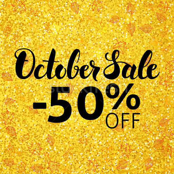 October Sale Banner Stock photo © Anna_leni