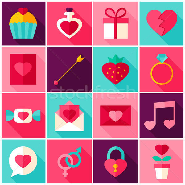 heart shaped leaf icon vector Stock image and royalty