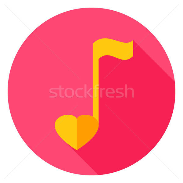 Stock photo: Musical Note Circle Icon