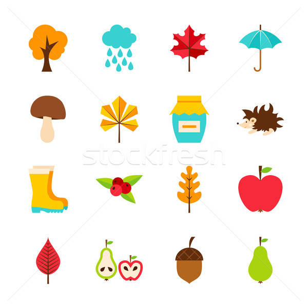 Autumn Flat Objects Stock photo © Anna_leni