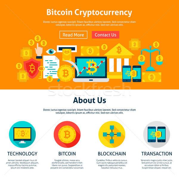 Bitcoin Cryptocurrency Web Design Stock photo © Anna_leni