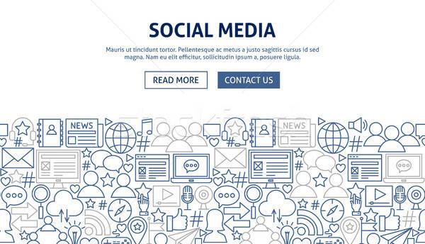 Social Media Banner Design Stock photo © Anna_leni