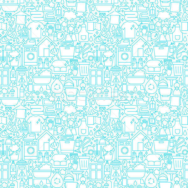 Cleaning White Line Seamless Pattern Stock photo © Anna_leni