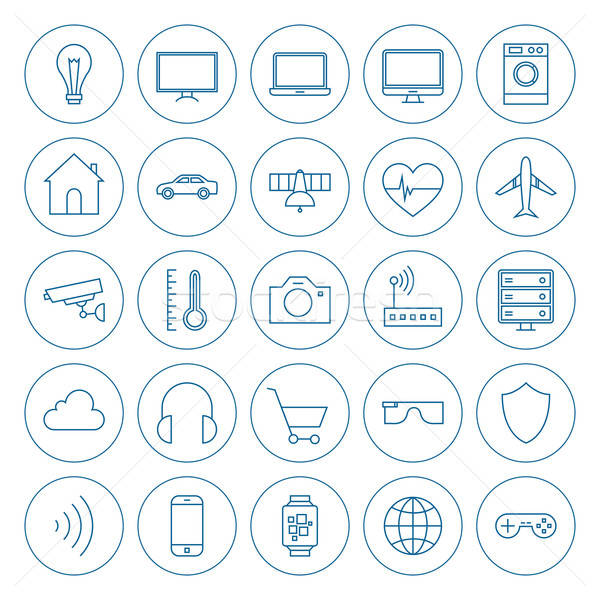Line Circle Internet of Things Icons Set Stock photo © Anna_leni