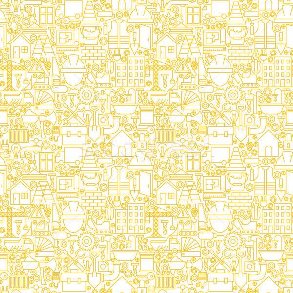 Dun lijn bouw witte vector Stockfoto © Anna_leni