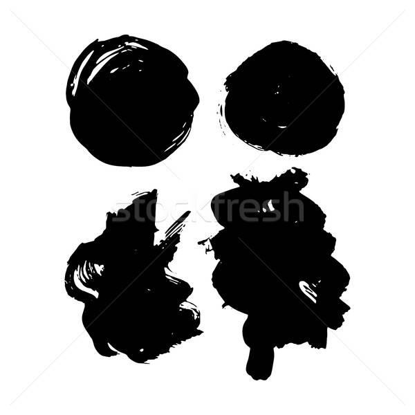 Grunge kézzel rajzolt ecsetvonások festék folt kéz Stock fotó © Anna_leni