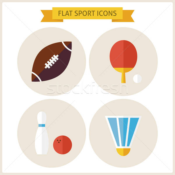 Flat Sport Website Icons Set Stock photo © Anna_leni