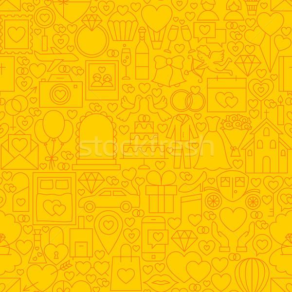 Wedding Yellow Line Tile Pattern Stock photo © Anna_leni