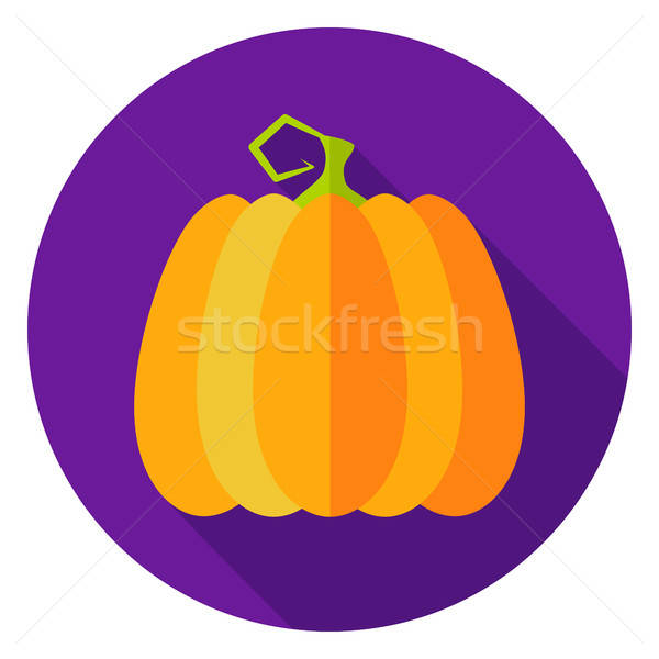 Halloween Pumpkin Circle Icon Stock photo © Anna_leni