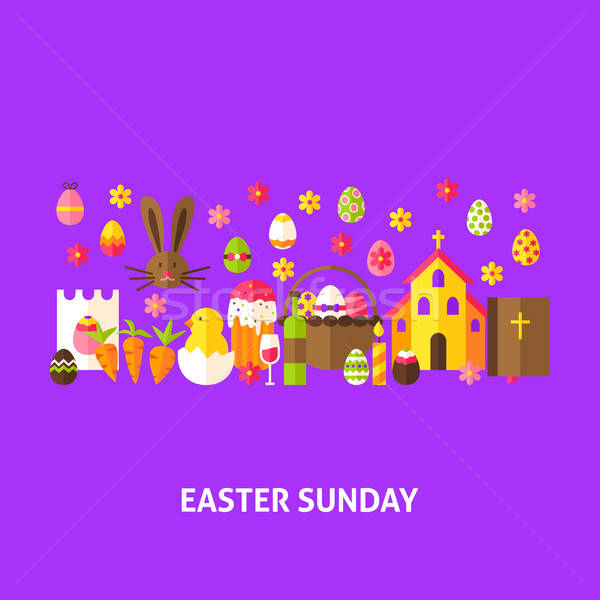 Easter Sunday Greeting Postcard Stock photo © Anna_leni