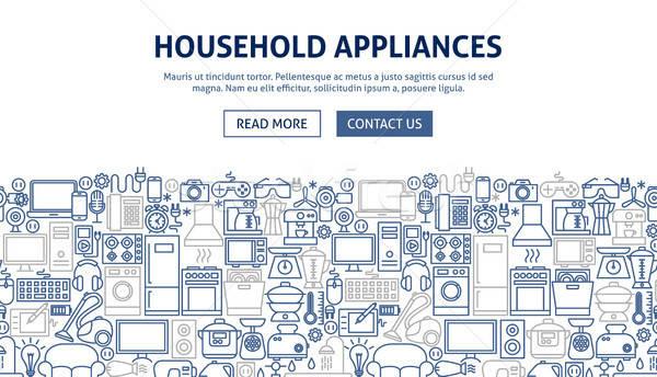 Household Appliances Banner Design Stock photo © Anna_leni