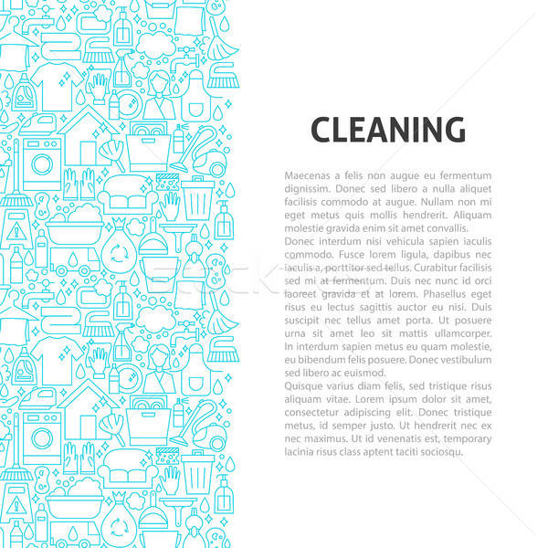 Cleaning Line Pattern Concept Stock photo © Anna_leni