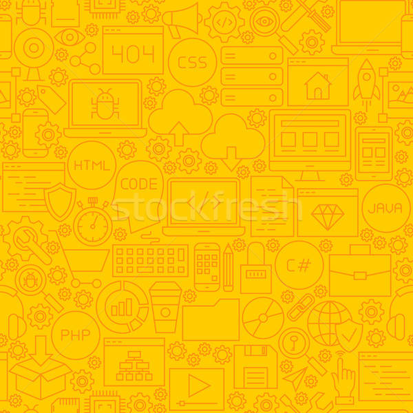 Coding Yellow Line Tile Pattern Stock photo © Anna_leni