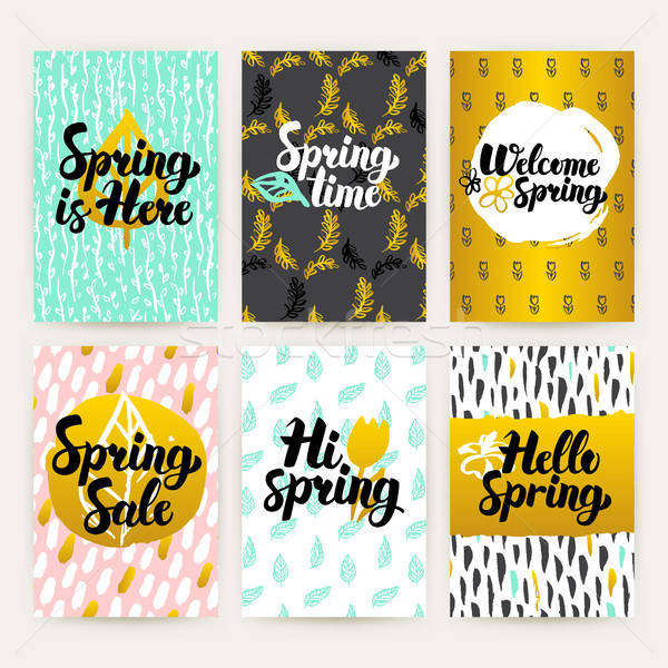 Spring Time Trendy Brochures Stock photo © Anna_leni