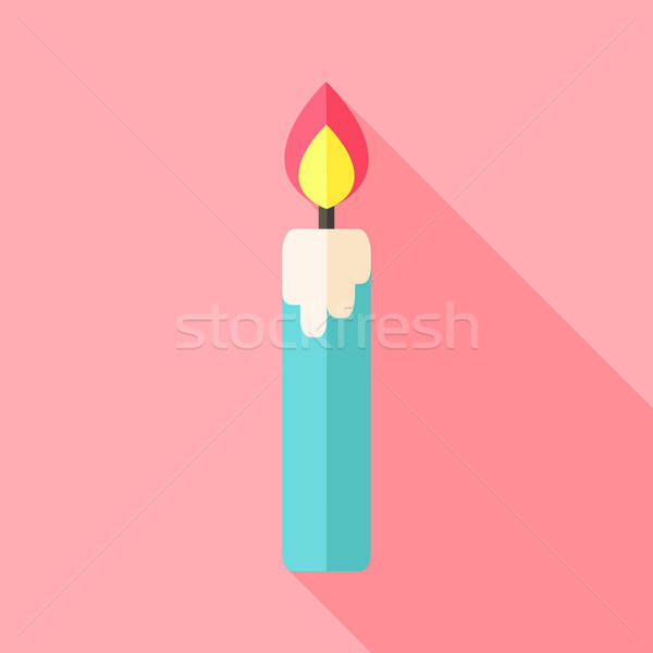 Religious big candle with flame Stock photo © Anna_leni