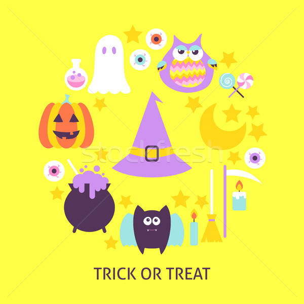 Trick or Treat Trendy Poster Stock photo © Anna_leni